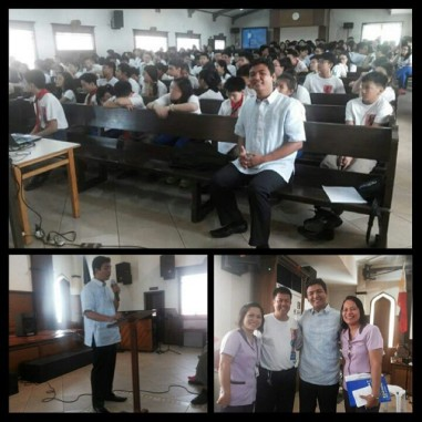 First time to preach to the high school department of PCGS, my alma mater. (Photos courtesy of my teacher: Sir Sayson.)